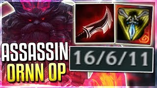 ASSASSIN ORNN IS BROKEN?! Mid Ornn Gameplay - League of Legends