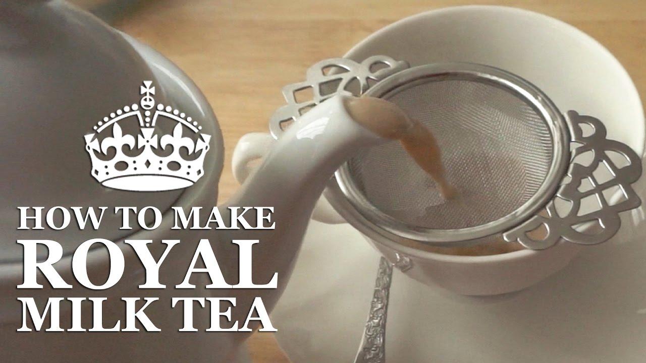 비오는 날엔 집에서 로얄밀크티 Royal milk tea at home on a rainy day