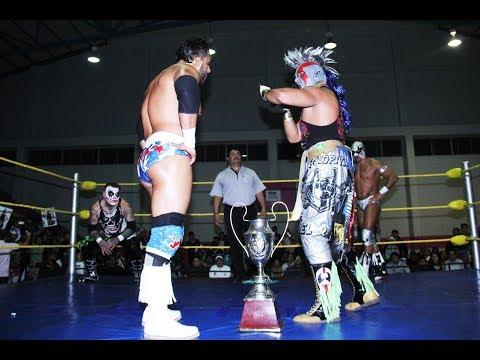 Psycho Clown vs Texano Jr vs Pagano vs Hijo del Fantasma por la Copa la Polar