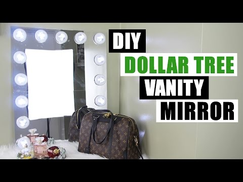 DOLLAR TREE DIY VANITY MIRROR | Large DIY Vanity Mirror Tutorial | Dollar Store DIY Glam Room Decor