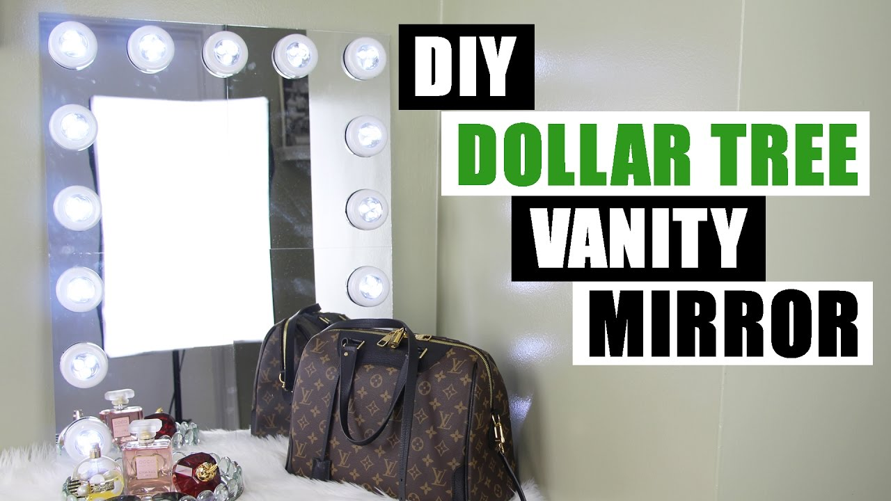 Make Your Own Vanity Mirror - Easy Craft Ideas