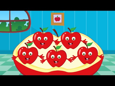 Five Little Apples  Nursery Rhymes For Toddlers  Cartoon s For Babies  Kids Tv Nursery Rhyme