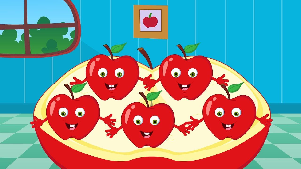 Abc Baby Cartoon Five Little Apples Nursery Rhymes For Toddlers Cartoon