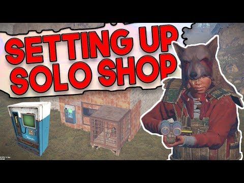 SETTING UP THE SOLO SHOP?! | Rust SHOP Survival | Episode 1