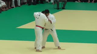 東京都ジュニア柔道体重別選手権大会 100kg超級 2回戦 (小嶋洸成 対 蓜島剛)