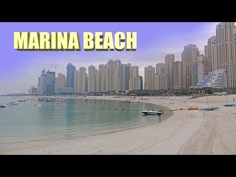 Marina Beach - Dubai 4K