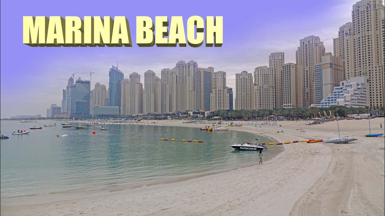 Marina Beach Dubai 4k