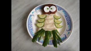 3 идеи украшения детских блюд из картофельного пюре