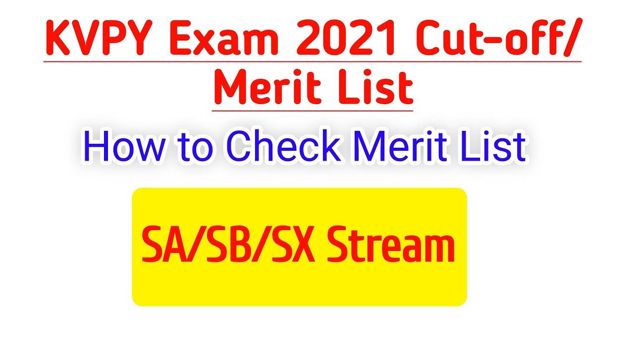 Download KVPY Cutoff 2021 Exam /Kvpy exam merit list 2021/how to check list//kvpy results 2021