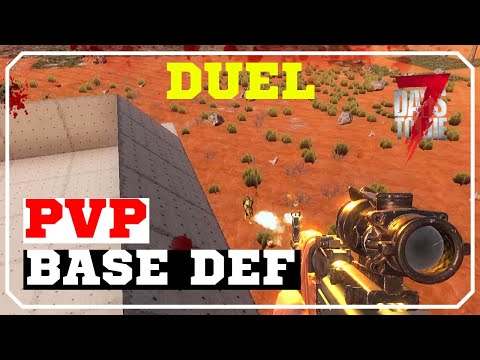 Base Defence | 7 Days To Die Alpha 17 PVP Gameplay