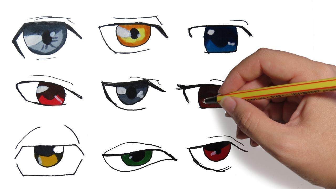 Como Dibujar Ojos Manga De Hombre Aprende A Dibujar Anime Paso A
