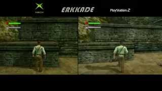 Comparison - Indiana Jones and the Emperor's Tomb Xbox vs PS2