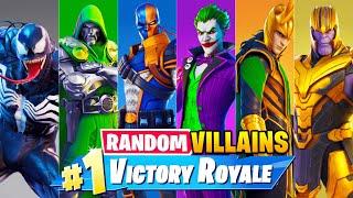 The *RANDOM* VILLAIN BOSS Challenge in Fortnite!