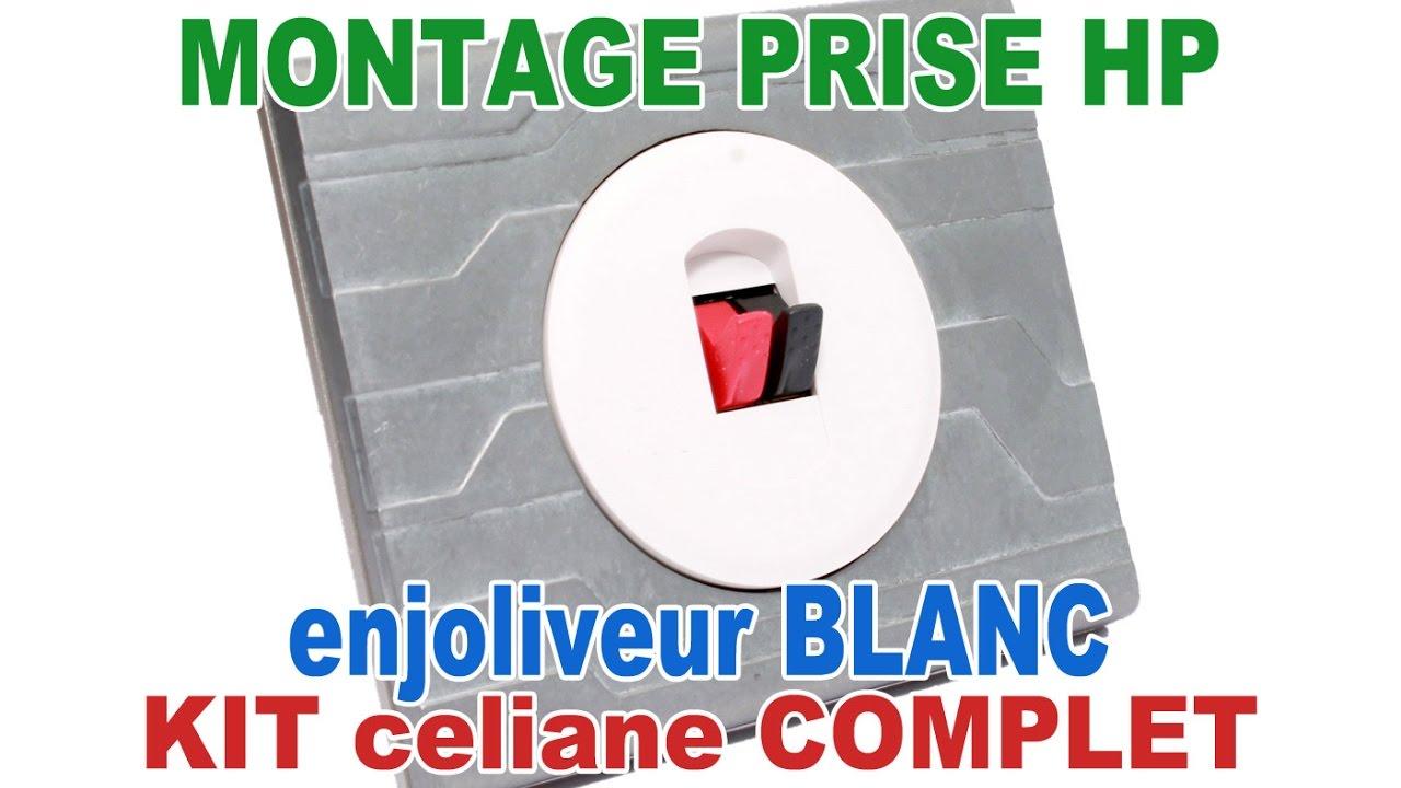 Enjoliveur simple prise haut-parleur Legrand Céliane blanc 68211