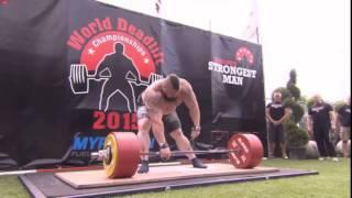 Эд Холл,  становая тяга - raw - 463 кг  (без ремня) !!!