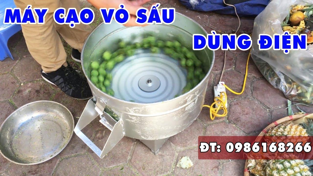 Máy Gọt Vỏ Sấu Hàng Việt Nam_ĐT: 0986168266 I Máy chà bóc vỏ sấu, máy tách sấu
