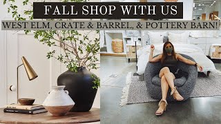 SHOP WITH US FOR FALL 2021 @ CRATE & BARREL, WEST ELM, & POTTERY BARN | FALL TRENDS 2021