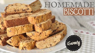 Chocolate Chips Biscotti Recipe [NO BUTTER] - How to Make Italian Biscuits