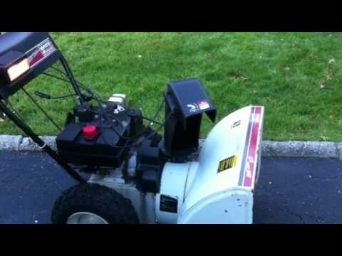 Snow Blower 24 >> White Snow Blower - YouTube