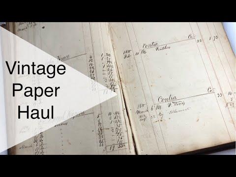 Vintage paper finds