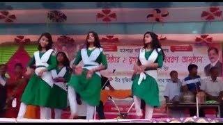বর্ষবরণ অনুষ্ঠানের স্কুল ছাত্রীদের জটিল নৃত্য    latest school dance performance 2018