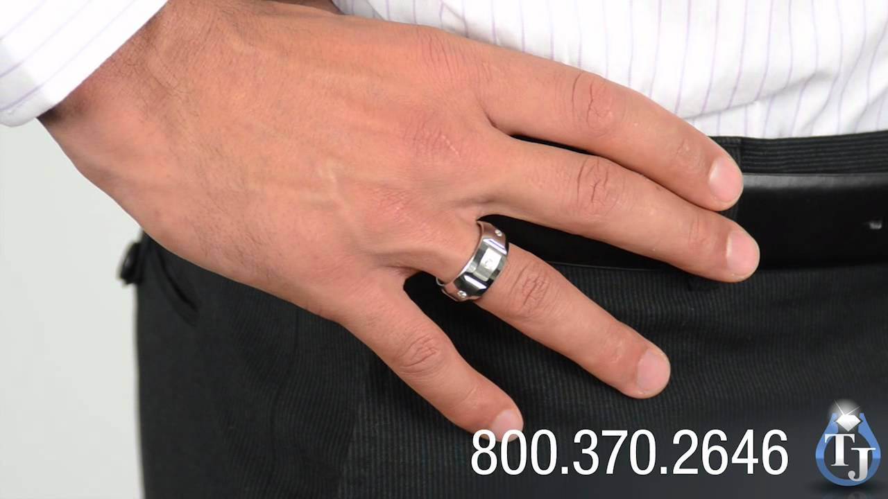 Cobalt Wedding Band with Diamonds by Benchmark EKTON 10mm YouTube