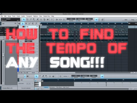 How to Find BPM \ Tempo | Presonus STUDIO ONE | Make a Beat