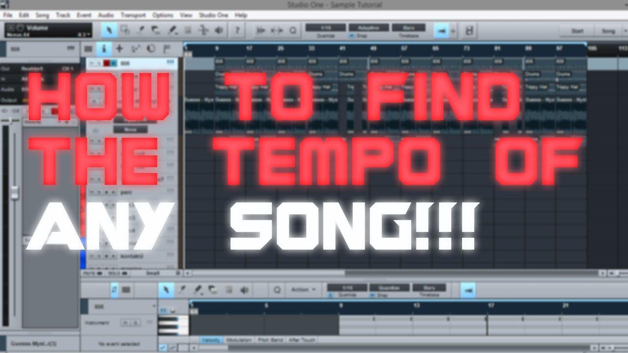 how to find bpm tempo presonus studio one make a beat youtube. Black Bedroom Furniture Sets. Home Design Ideas