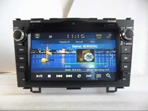 Honda CRV DVD Navigation TV, Honda DVD Player with GPS Navigation Bluetooth touch screen - YouTube