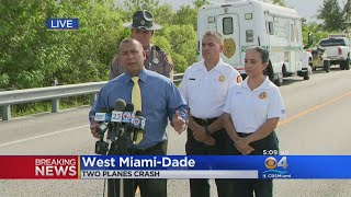 News Conference: Two Small Planes Collide Over The Everglades
