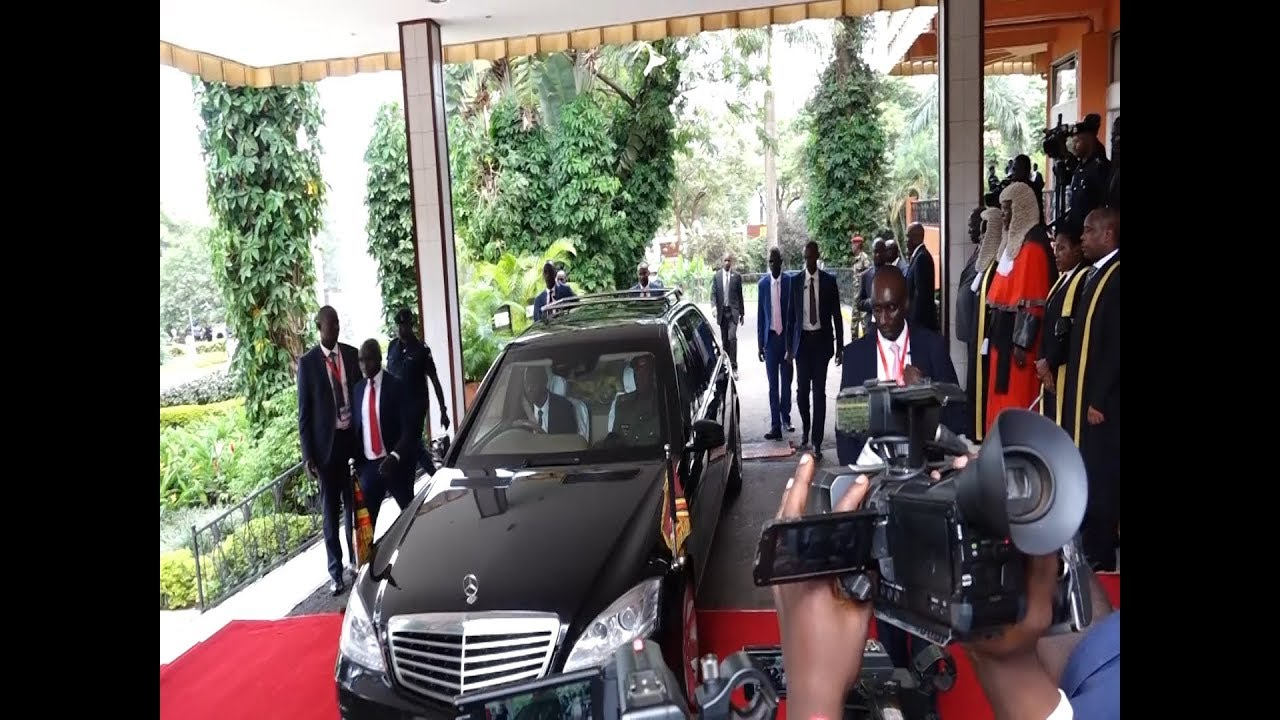 President Museveni's convoy and security arrive for State of Nation address 2019
