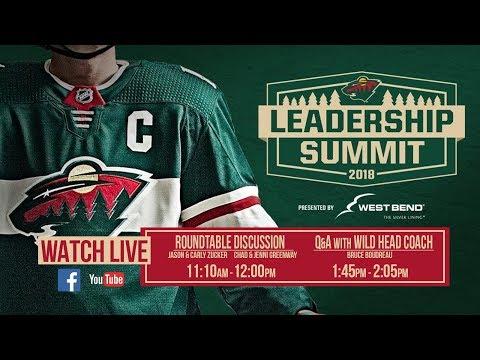 Minnesota Wild Leadership Summit Live Stream