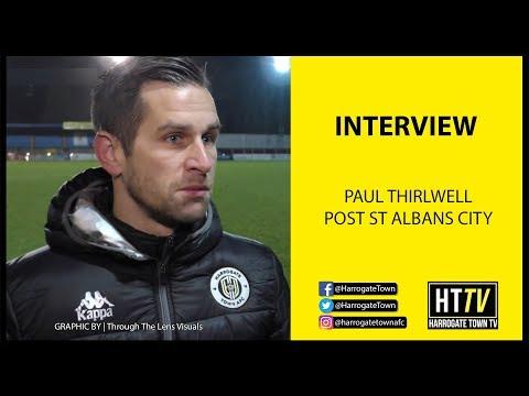 HTTV | Paul Thirwell Post St Albans City (13/01/2018)