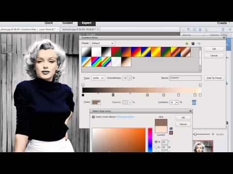 Photoshop Elements 11- Colorize a Black and White image