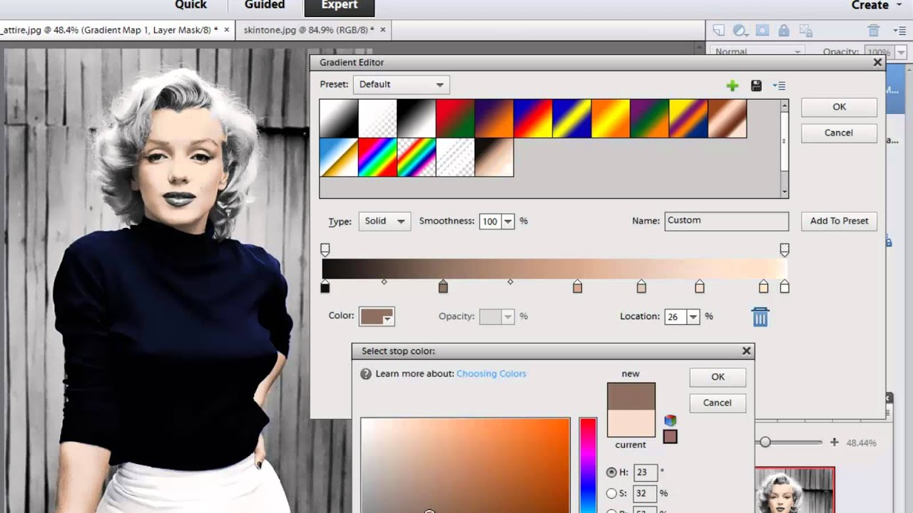 photoshop elements 11 colorize a black and white image youtube - Turn Black And White Photo Into Color