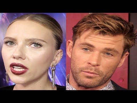 Scarlett Johansson & Chris Hemsworth Interview Avengers Endgame Premiere