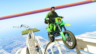 FUNNY MOTO PARKOUR MODDED - GTA 5 ONLINE | AidenShow