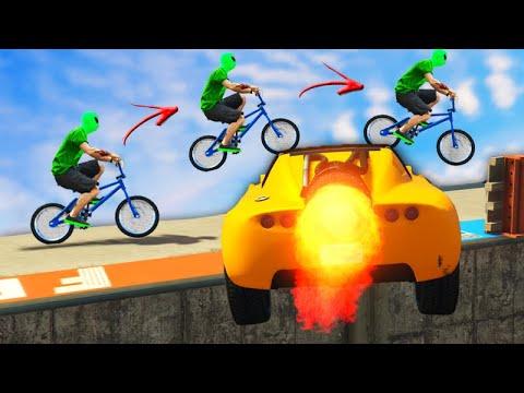 GTA V Online: BMX vs CARRO FOGUETE - A JOGADA da MITADA!!!