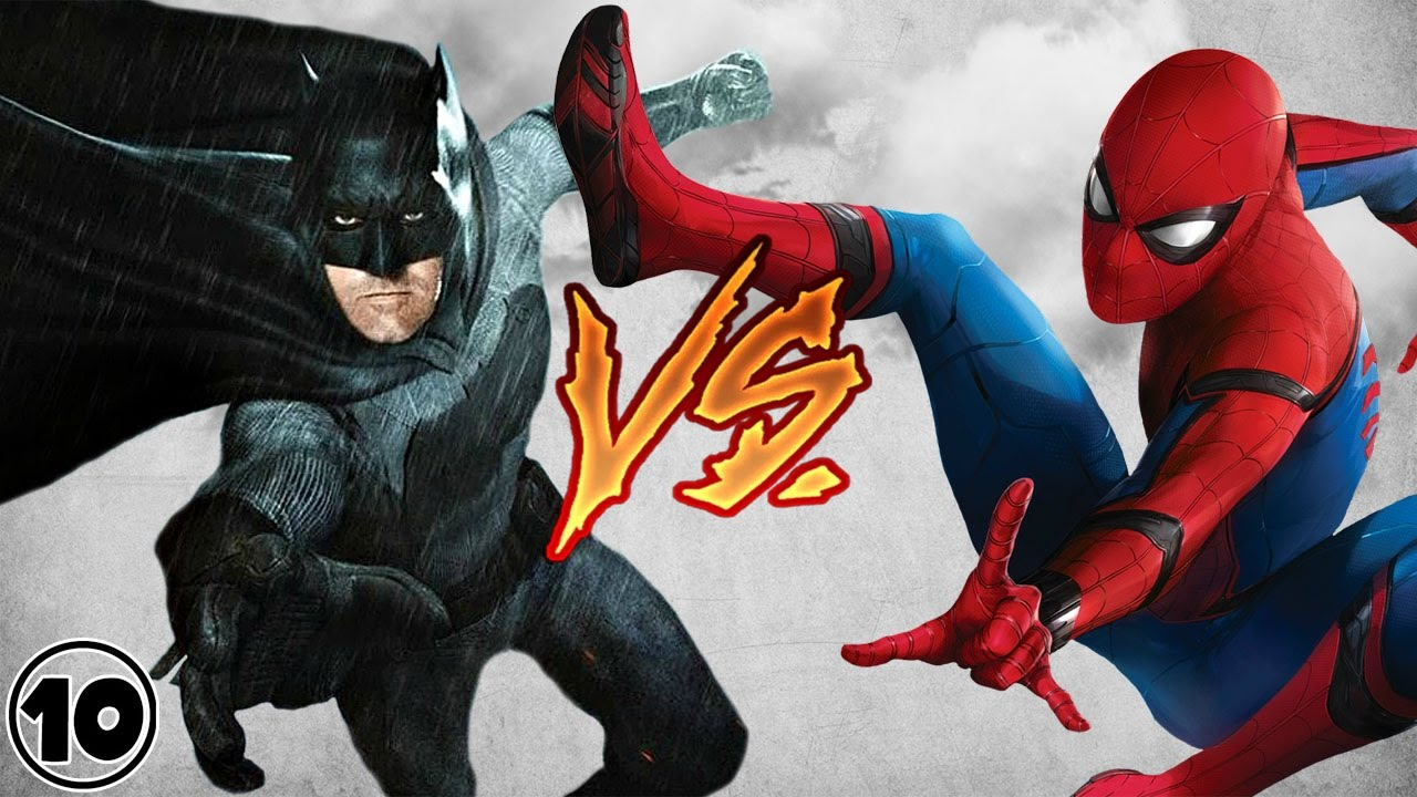 Бетман и человек паук видео