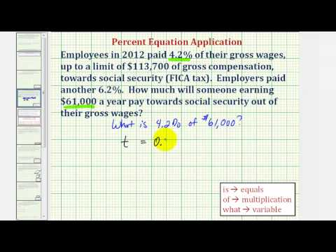 Ex: Tax Percent Application - Find the Amount of FICA tax paid
