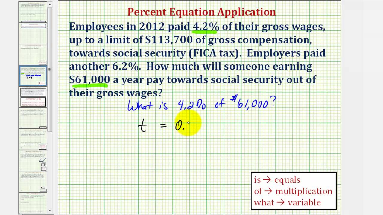 Ex: Tax Percent Application  Find The Amount Of Fica Tax Paid