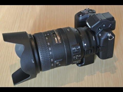 Nikon 1 V2 + переходник FT1 + объектив Nikon 18-200mm
