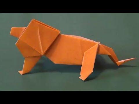 花 折り紙:折り紙 ライオン 折り方-doovi.com