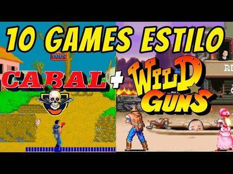 "TOP 10 Games estilo Wild Guns e Cabal: lista de jogos ""shooters galeria de tiro"" de arcade e console |"