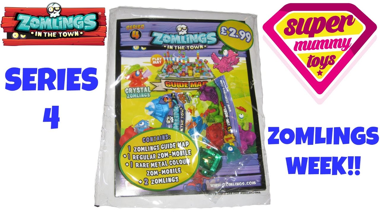 zomlings series 4 starter pack with guide map and zom mobile blind bag zomlings serie 4 youtube. Black Bedroom Furniture Sets. Home Design Ideas