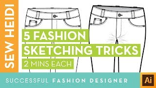 5 Tricks to Sketch Beautiful Fashion Flats (under 2 minutes each)