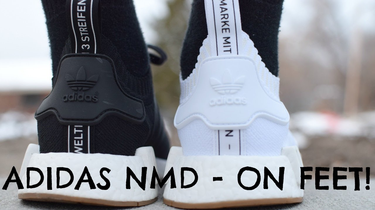 Adidas Nmd R1 Pk Gum Pack On Feet Youtube