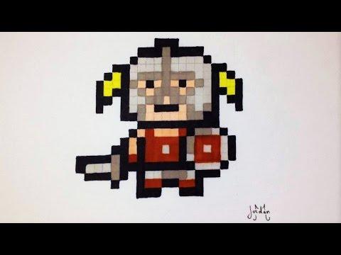 Pixel Art Little Viking Easy