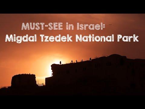 MUST-SEE in ISRAEL! Migdal Tzedek National Park / travel vlog from Israel