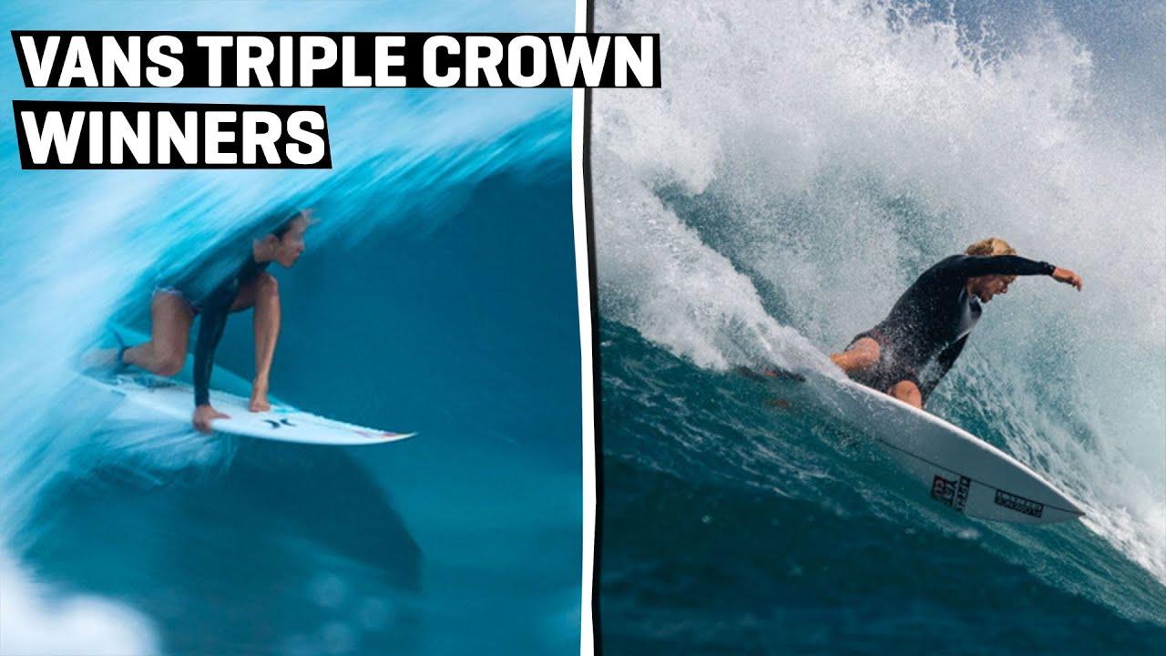 Carissa Moore And John John Florence Win The Digital Vans Triple Crown Of Surfing